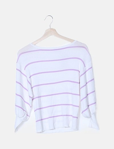Camiseta canalé rayas bicolor