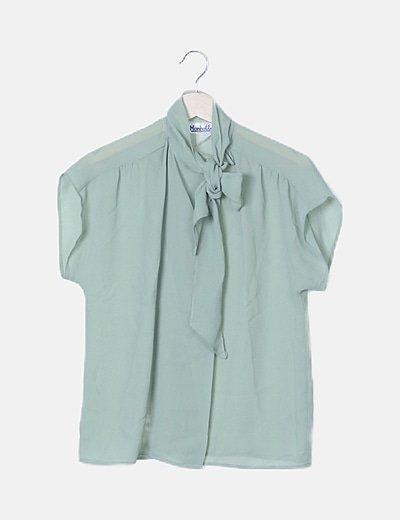 Blusa verde detalle lazada