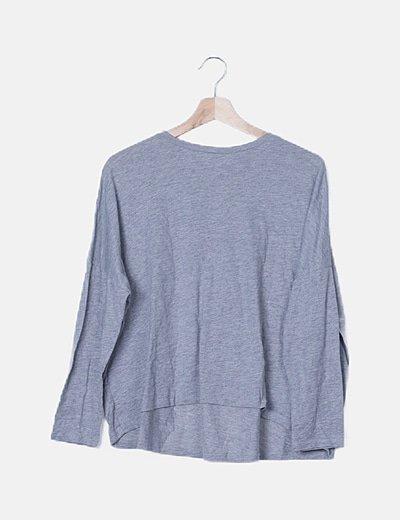 Camiseta gris tail hem