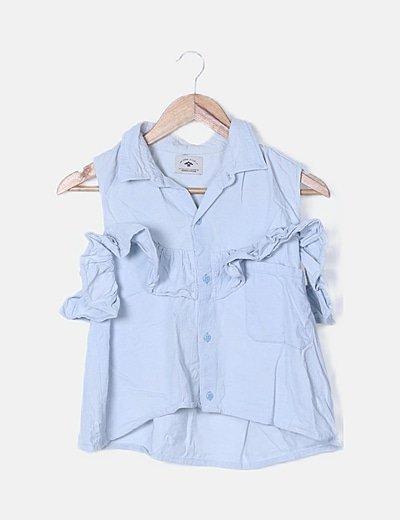 Camisa pana azul claro