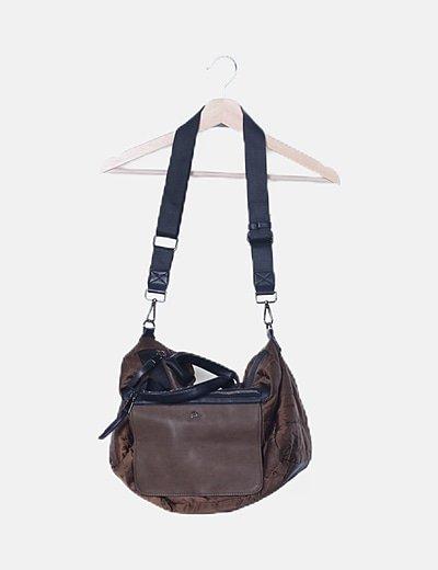 Maxi bolso acolchado combinado bicolor