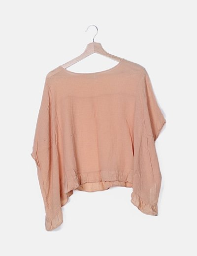 Blusa oversize naranja texturizada