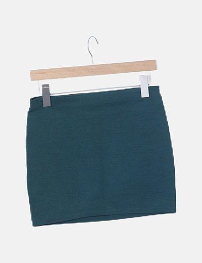 Falda verde de tubo