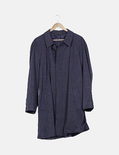 Abrigo largo gris marengo abotonado