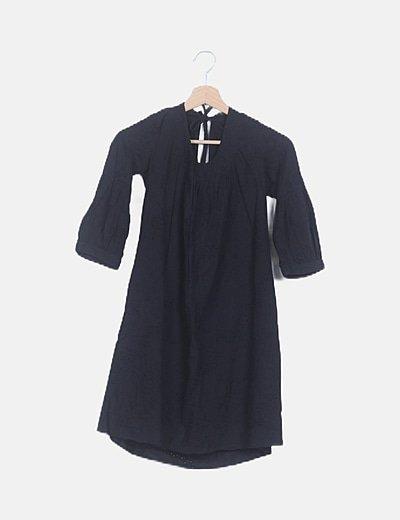Vestido guipur negro