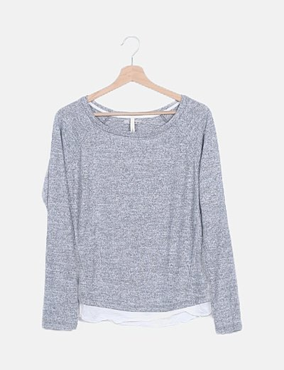 Jersey tricot gris
