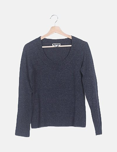 Jersey tricot gris marengo
