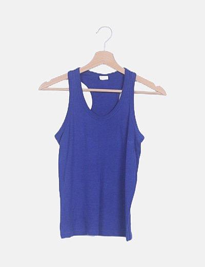 Camiseta nadadora azul eléctrico
