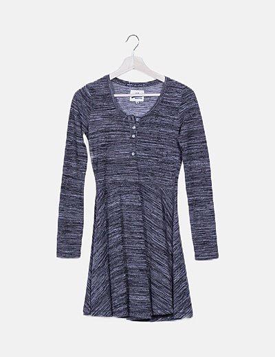 Vestido gris evasé
