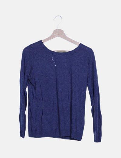 Jersey azul detalle lace up