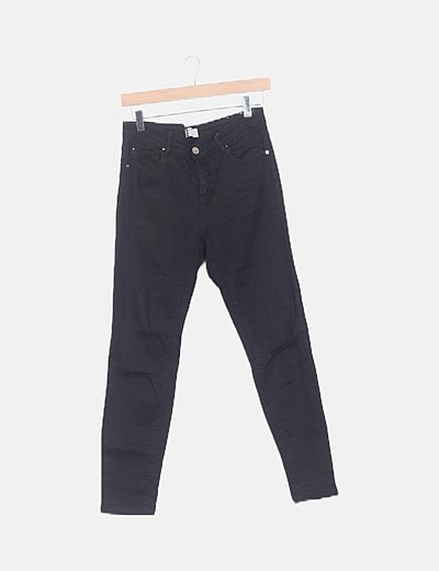 Jeans negros pitillos ripped