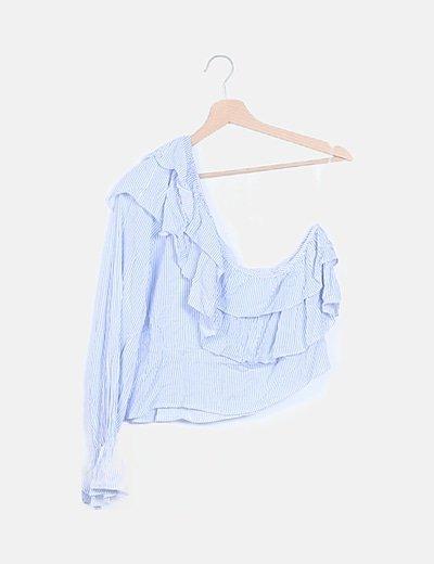 Blusa blanca de rayas