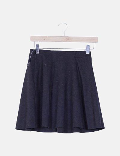 Falda mini evasé negra