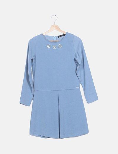 Vestido fluido azul claro