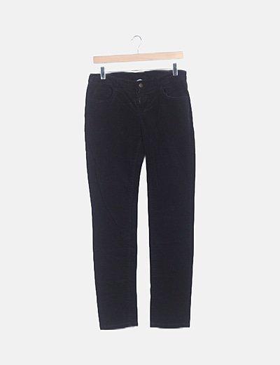 Pantalón pana negro