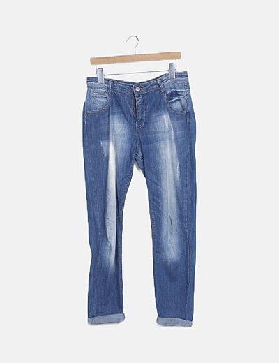 Jeans denim boyfriend efecto deslavado