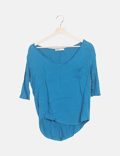 Camiseta azul tail hem