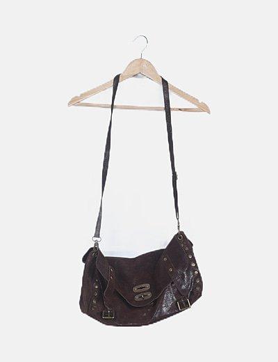 Bolso marrón shopper