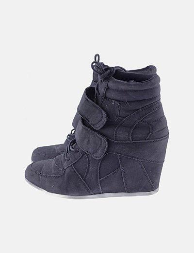 Sneakers cuña negras