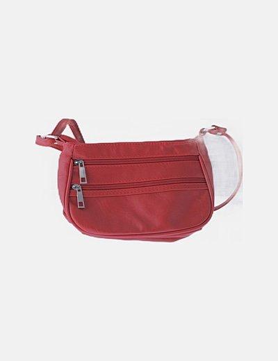 Bolso rojo mini con cremalleras