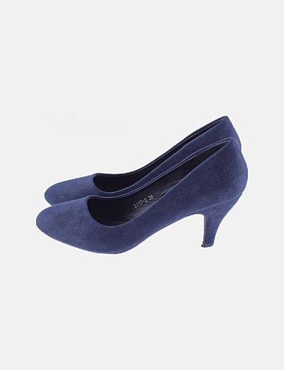 Zapato salón azul marino