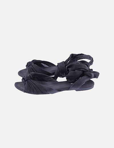 Sandalias lazo negro
