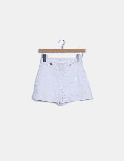 Short blanco combinado