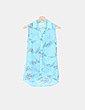Blusa gasa azul estampada Suiteblanco