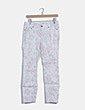 Jeans denim blanco floral pitillo H&M
