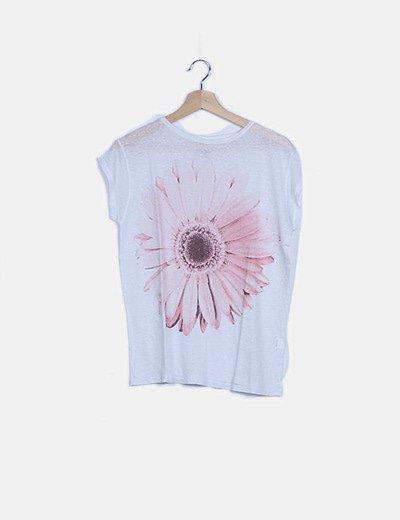 Camiseta blanca print floral