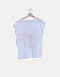Camiseta blanca print floral Zara
