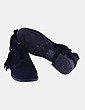 Botín negro con flecos ENCOR
