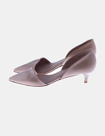 Zapato charol color camel