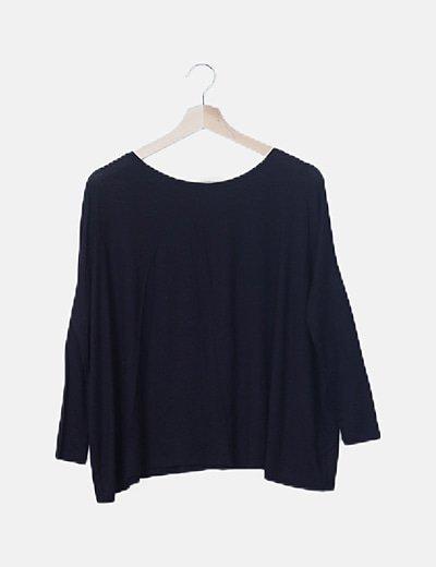 Camiseta fluida oversize negra