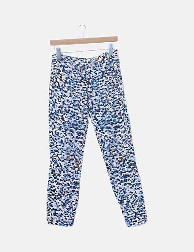 Jeggings estampado azul