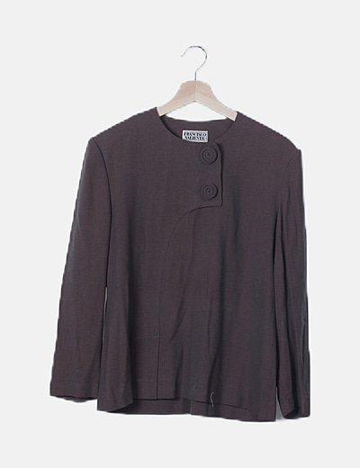 Blusa marrón jaspeada