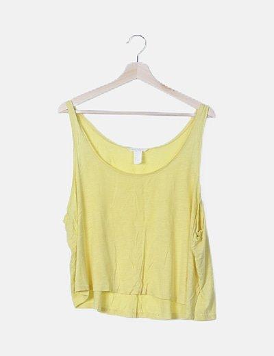 Camiseta amarilla oversize