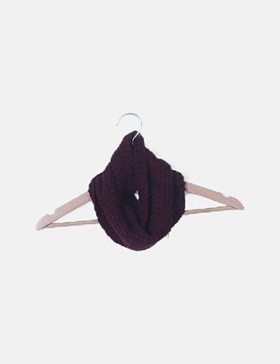Bufanda granate tricot