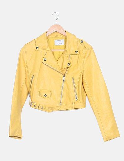 Chaqueta biker amarilla
