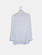 Camisa blanca semitransparente botón dorado Okeysi