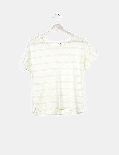 Camiseta tricot amarilla rayas