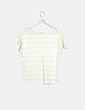 Camiseta tricot amarilla rayas Cortefiel