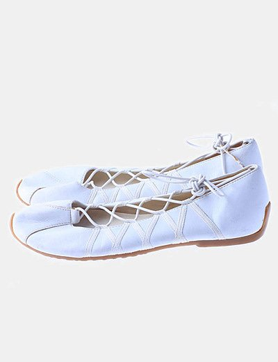 Bailarinas blancas lace up