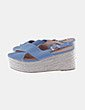 Sandalias azul cuñas esparto Tina's
