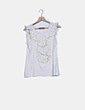 Camiseta blanca detalle escote Zara