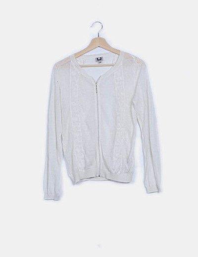 Chaqueta blanca tricot