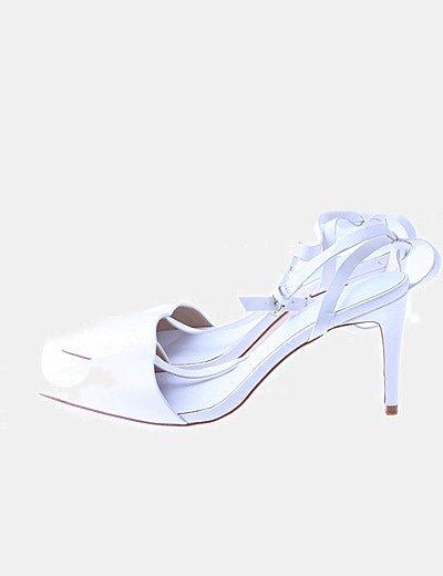 Zapatos blanco destalonado puntera