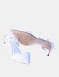 Zapatos blanco destalonado puntera Zara