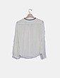 Camisa blanca fluida lazo Massimo Dutti