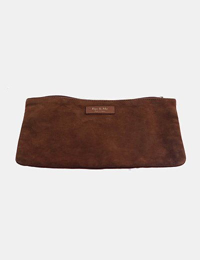 Bolso de mano ante marrón